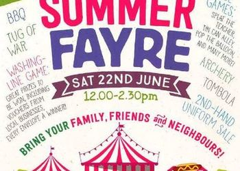 Summer Fayre - Saturday 22 June 2019 12-2.30pm