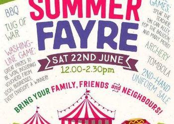 Summer Fayre - Saturday 22 June 2019 12-2.30pm