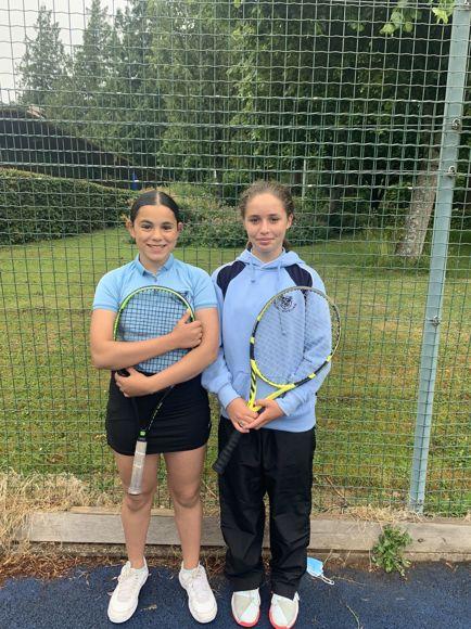 Sophia and Hana at the Avon Schools Tennis Championship