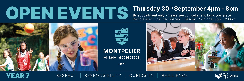 Montpelier High School 3m x 1m Year 7 Banner