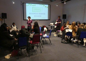 Business mentors from Great Western Railway help students tackle real-life problems